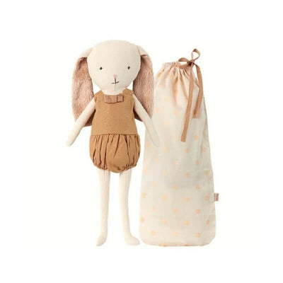 MAILEG - Bunny bell doll gold with storage bag