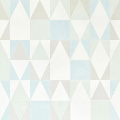 MAJVILLAN - Original and geometric wallpaper - Alice turquoise