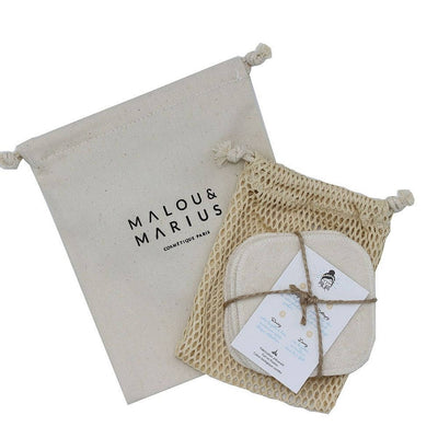MALOU & MARIUS - Reusable make-up remover wipes in organic cotton