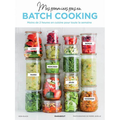 """Mes premiers pas en batch cooking"" book"