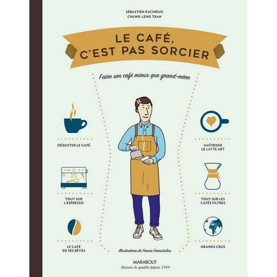 "MARABOUT EDITION - ""Le café c'est pas sorcier"" French book about coffee"