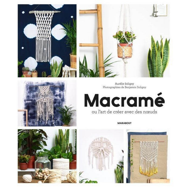 MARABOUT EDITIONS - DIY book about macramé in French