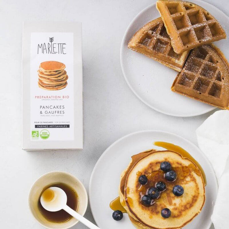 MARLETTE - Organic pancakes and waffles baking mix - Scene