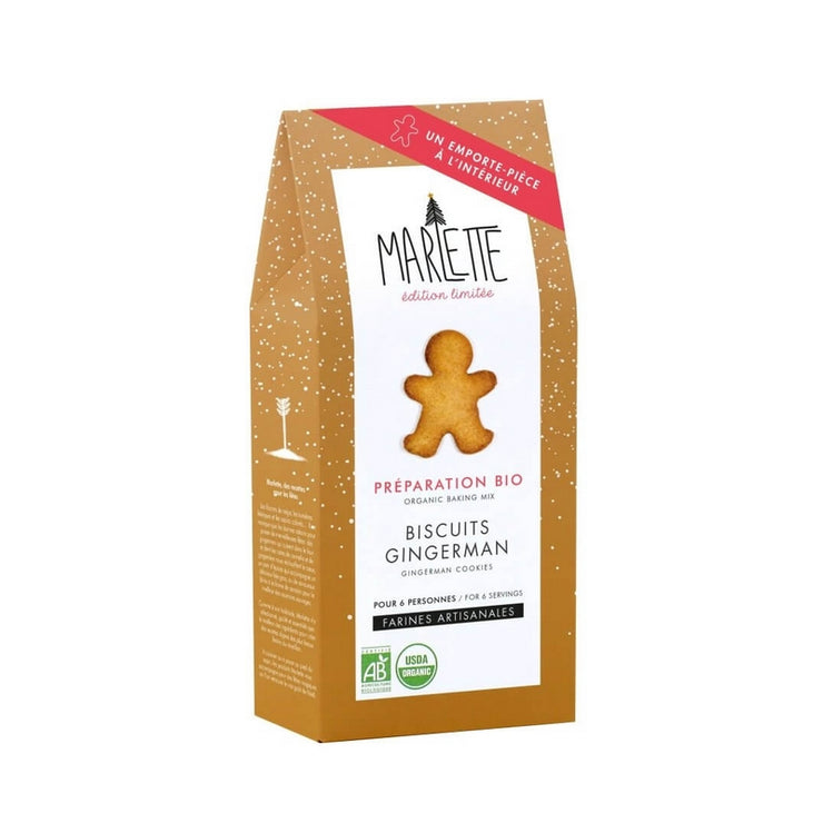 MARLETTE - Gingermen biscuits organic baking mix