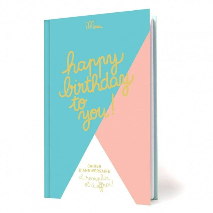 MINUS EDITIONS - Birthday booklet in French - Happy birthday to you