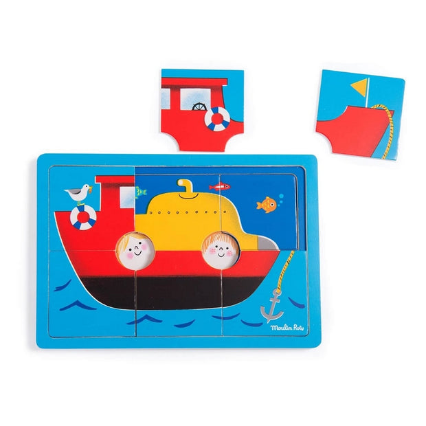 Wooden puzzle - Get on board !