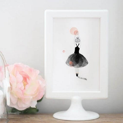 MY LOVELY THING - Dancer greeting card - Poetic illustration
