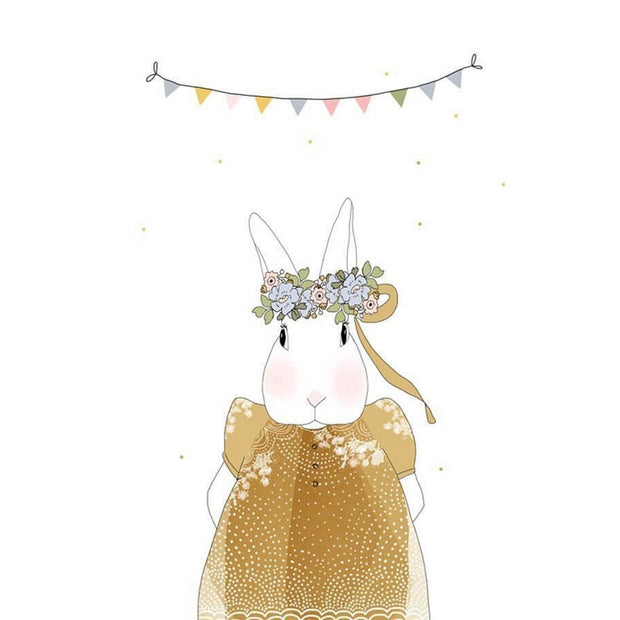 MY LOVELY THING - Joséphine the rabbit greeting card - Poetic illustration