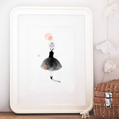 MY LOVELY THING - Dancer poster - Poetic illustration