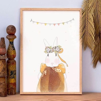 MY LOVELY THING - Joséphine the rabbit poster - Poetic illustration