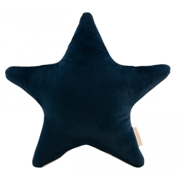 NOBODINOZ - Blue velvet star cushion