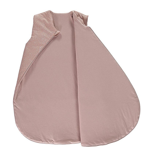 NOBODINOZ - Cocoon sleeping bag - White Bubble / Misty Pink - Organic cotton - Open