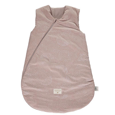 NOBODINOZ - Cocoon sleeping bag - White Bubble / Misty Pink - Organic cotton