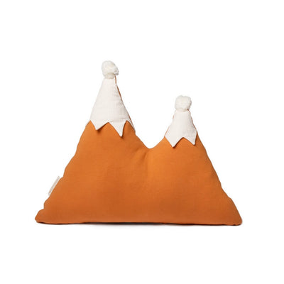 NOBODINOZ - Snowy mountain cushion - Orange