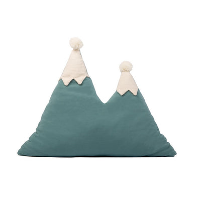 NOBODINOZ - Snowy mountain cushion - Green