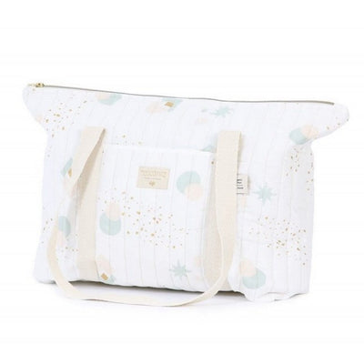 NOBODINOZ - Paris diaper bag - Aqua eclipse