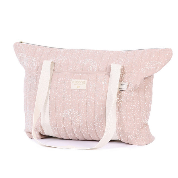 NOBODINOZ - Paris diaper bag - White bubble / Misty Pink