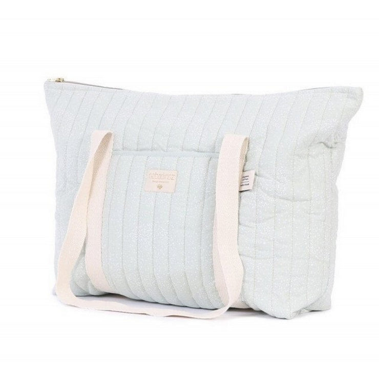 NOBODINOZ - Paris diaper bag - White bubble / Aqua