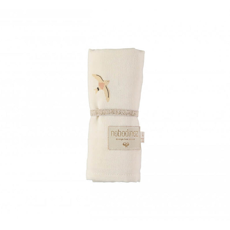 NOBODINOZ - Organic cotton swaddle - Haiku birds