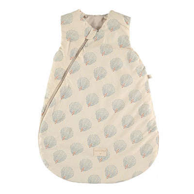 NOBODINOZ - Cocoon sleeping bag - Blue Gatsby / Cream - Organic cotton