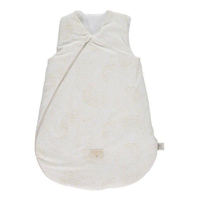 NOBODINOZ - Cocoon sleeping bag - Gold Bubble / White - Organic cotton