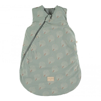 NOBODINOZ - Cocoon sleeping bag - White Gatsby / Antique Green - Organic cotton
