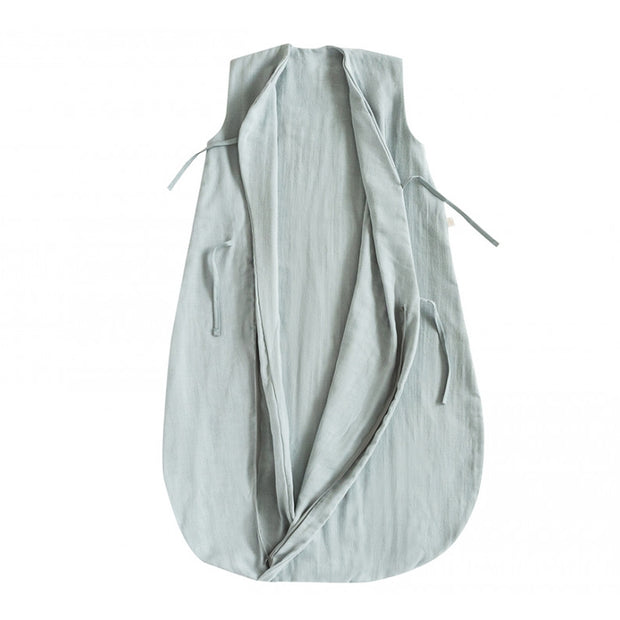NOBODINOZ - Dreamy sleeping bag - Riviera Blue - Organic cotton - Open