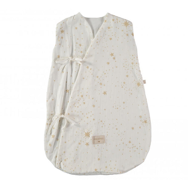 NOBODINOZ - Dreamy sleeping bag - Gold Stella / White - Organic cotton