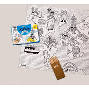 OMY DESIGN & PLAY - Pocket colouring sheet - Atlas - Scene