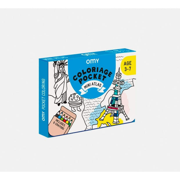 OMY DESIGN & PLAY - Pocket colouring sheet - Atlas