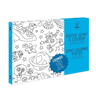 OMY DESIGN & PLAY - Giant colouring poster - Cosmos