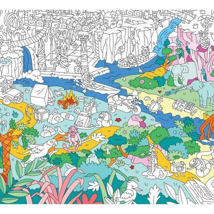 OMY DESIGN & PLAY - Giant colouring poster - Jungle - Details