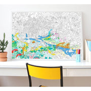 OMY DESIGN & PLAY - Giant colouring poster - Jungle - Scene