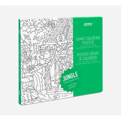 OMY DESIGN & PLAY - Giant colouring poster - Jungle