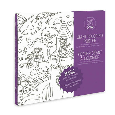 OMY DESIGN & PLAY - Giant colouring poster - Princesses and knights