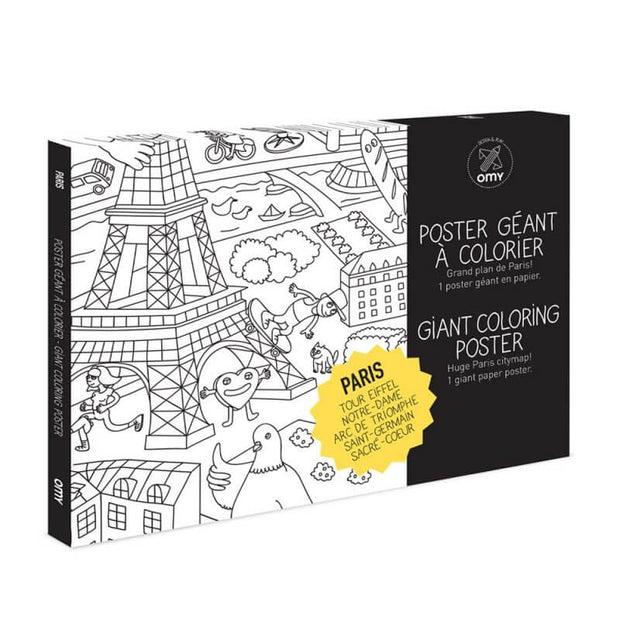 Giant Coloring Poster - Paris