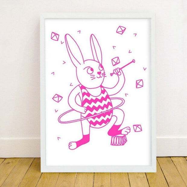 OMY DESIGN & PLAY - Glow in the dark poster - Bunny