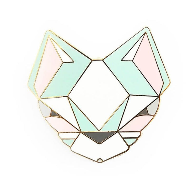SKETCH INC - Pastel cat metal brooch