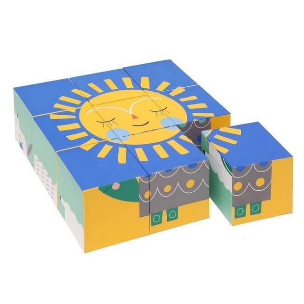 PETIT MONKEY - Block puzzle Peanuts and friends - Sun