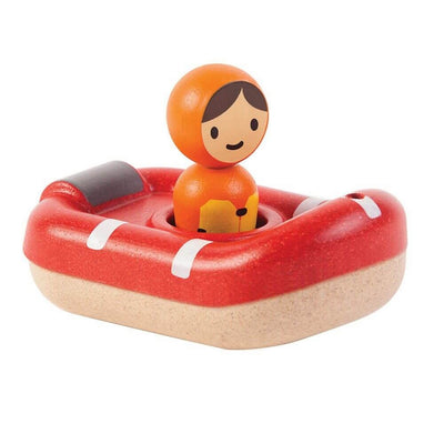 PLAN TOYS - Wooden coast guard boat