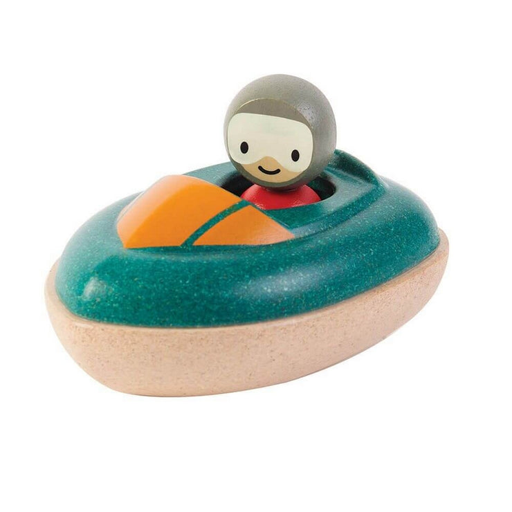 PLAN TOYS - Wooden speed boat - Bath toy