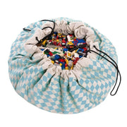 PLAY & GO - Blue diamonds toy storage bag