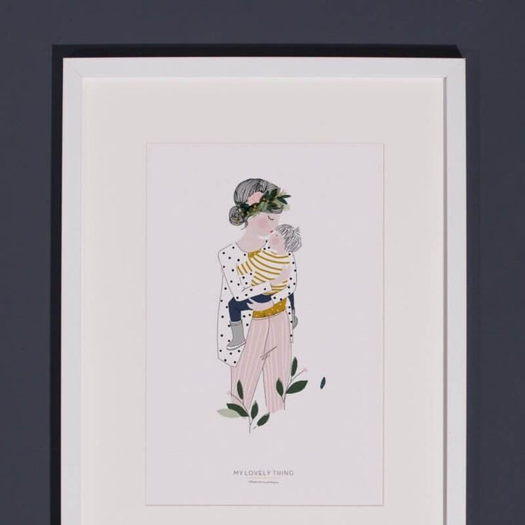 MY LOVELY THING - Marcel poster - Mustard - Poetic illustration