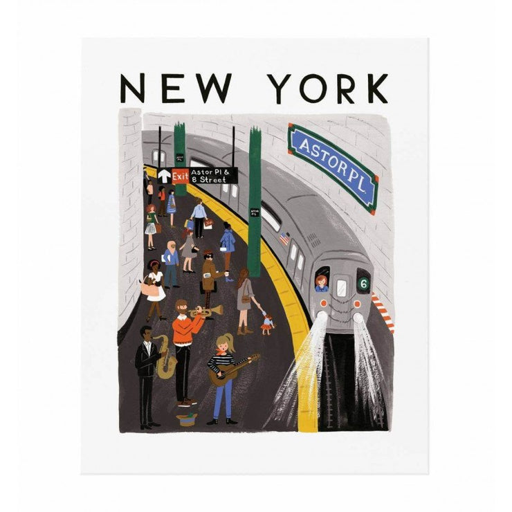 RIFLE PAPER CO - New York subway poster