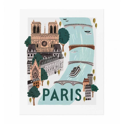 RIFLE PAPER CO - Paris World poster