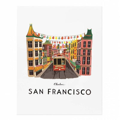 RIFLE PAPER CO - San Francisco poster