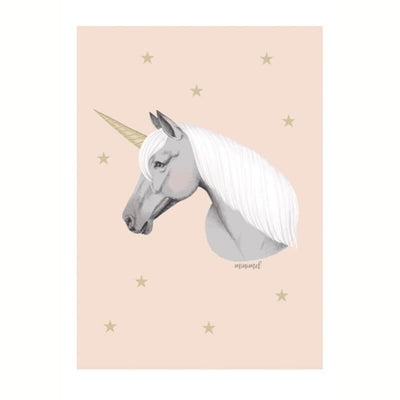 MINIMEL - Poetic poster for kids - Unicorn