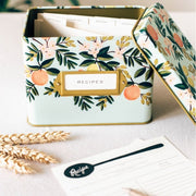 RIFLE PAPER CO - Vintage recipe box - Floral - Open