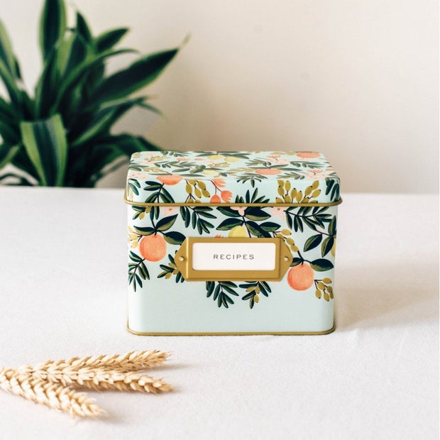 RIFLE PAPER CO - Vintage recipe box - Floral - SCene
