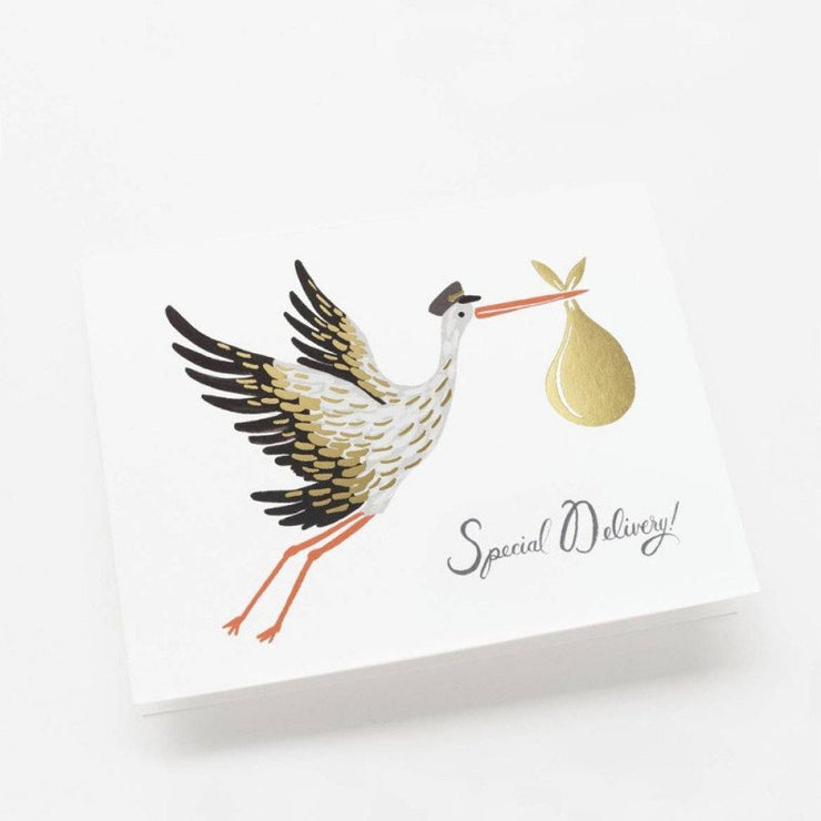 Greeting card - Special delivery Stork